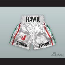 Aaron 'The Hawk' Pryor White Boxing Shorts
