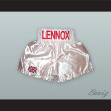 Lennox Lewis White Boxing Shorts
