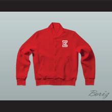 East High School Wildcats Red Varsity Letterman Jacket-Style Sweatshirt