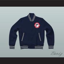 Pioneers Baseball Dark Blue Varsity Letterman Jacket-Style Sweatshirt Hardball Sitcom