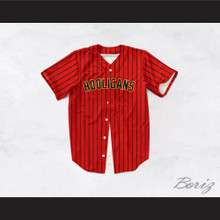 Hooligans 24K Dark Red Baseball Jersey