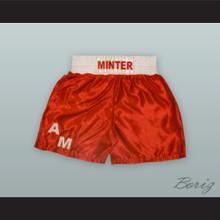 Alan Minter Red Boxing Shorts