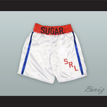 Sugar Ray Leonard White Boxing Shorts