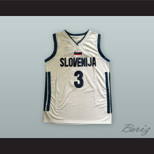 Goran Dragic 3 Slovenija National Team White Basketball Jersey