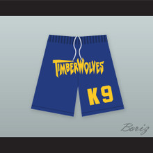 Air Bud K9 Timberwolves Blue Basketball Shorts