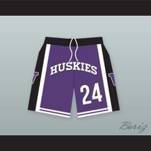Antoine Tyler 24 Huskies Purple Basketball Shorts