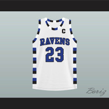 Nathan Scott 23 One Tree Hill Ravens White Basketball Jersey