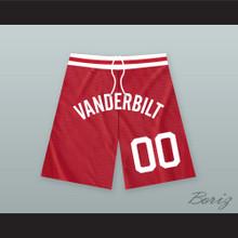 Steve Urkel 00 Vanderbilt Muskrats High School Red Basketball Shorts