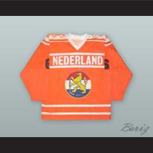 Frank Janssen 6 Netherlands National Team Orange Hockey Jersey