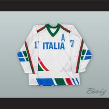 Gates Orlando 17 Italy National Team White Hockey Jersey