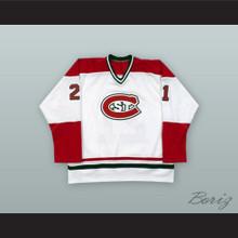 Mark Parrish 21 St. Cloud State Huskies White Hockey Jersey