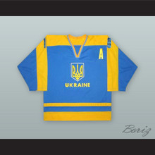 Vadim Shakhraychuk 10 Ukraine National Team Blue Hockey Jersey