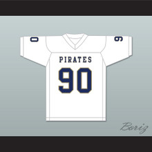 Dantrell Barkley 90 Independence Community College Pirates White Football Jersey