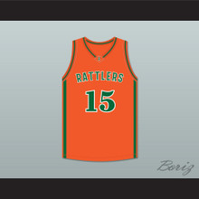 DeMarcus Cousins 15 LeFlore High School Rattlers Orange Basketball Jersey Drake- In My Feelings