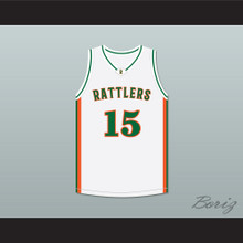 DeMarcus Cousins 15 LeFlore High School Rattlers White Basketball Jersey Drake- In My Feelings