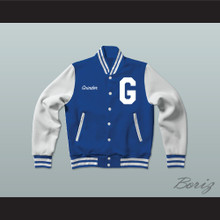 Grinder Grind Institute Blue Varsity Letterman Jacket-Style Sweatshirt