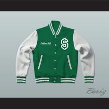 Dollar Bill Paid In Full Green Varsity Letterman Jacket-Style Sweatshirt