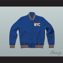 New York City NYC Staten Island Blue Varsity Letterman Jacket-Style Sweatshirt