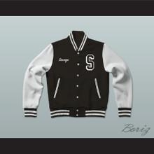 Savage Science Center Black Varsity Letterman Jacket-Style Sweatshirt