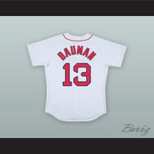 Jeff Bauman 13 Boston White Baseball Jersey Stronger