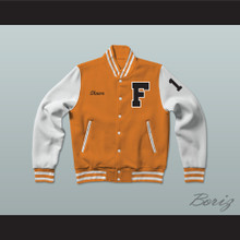 Shawn Colfax 17 Gerald R. Ford High School Tigers Varsity Letterman Jacket-Style Sweatshirt Fired Up!