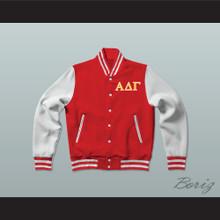 Alpha Delta Gamma Fraternity Varsity Letterman Jacket-Style Sweatshirt