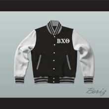 Beta Chi Theta Fraternity Varsity Letterman Jacket-Style Sweatshirt