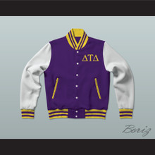 Delta Tau Delta Fraternity Varsity Letterman Jacket-Style Sweatshirt