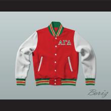 Alpha Gamma Delta Sorority Varsity Letterman Jacket-Style Sweatshirt