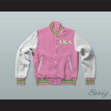 Alpha Kappa Alpha Sorority Varsity Letterman Jacket-Style Sweatshirt