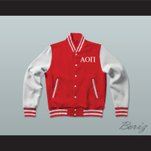 Alpha Omicron Pi Sorority Varsity Letterman Jacket-Style Sweatshirt
