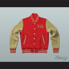 Chi Omega Sorority Varsity Letterman Jacket-Style Sweatshirt