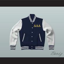 Delta Delta Delta Sorority Varsity Letterman Jacket-Style Sweatshirt