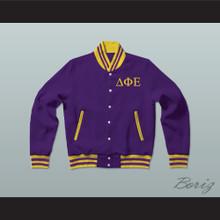 Delta Phi Epsilon Sorority Varsity Letterman Jacket-Style Sweatshirt