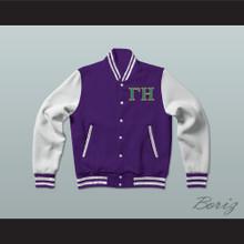 Gamma Eta Sorority Varsity Letterman Jacket-Style Sweatshirt