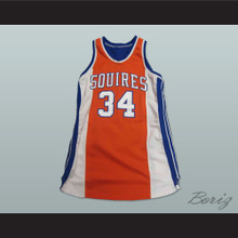 Broomer 34 Semi Pro Virginia Squires Basketball Jersey Stitch Sewn