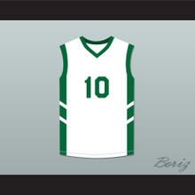 Guy 'Frequent Flyer' Dupree 10 White Basketball Jersey Dennis Rodman's Big Bang in PyongYang