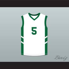 Andre 'Silk' Pool 5 White Basketball Jersey Dennis Rodman's Big Bang in PyongYang