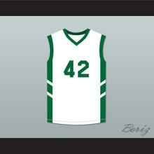 Vin Baker 42 White Basketball Jersey Dennis Rodman's Big Bang in PyongYang
