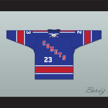 Archie Burton 23 Utica Comets Tie Down Hockey Jersey