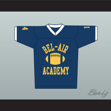 Fresh Prince Will Smith Bel-Air Academy Football Jersey Blue