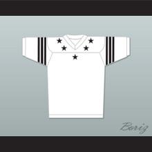 Black Stars Black Stripes White Football Jersey Stitch Sewn New