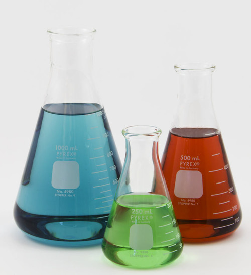 4l Corning Pyrex Erlenmeyer Flask 4000 Ml Glass