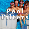 Swimming pool cartridge and sand filters and supplies.