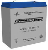 Power-Sonic PS-6360 Battery - 6V 36ah