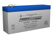 Power-Sonic PS-832 8V 3.2Ah Battery