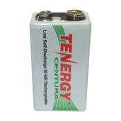 Tenergy 8.4V 200mAh Ni-MH Rechargeable 9V Battery - 10003