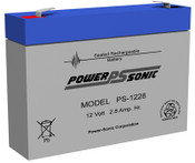 Powersonic PS-1228 Battery 12V 2.8Ah