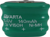 Varta 55615303059 - 3/V150H SK S PCBD Battery - 3.6V 150 Milliamp Hour Ni-MH 3 Pins(2+/1-)