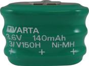 Varta 55615303059 - 3/V150H SK S PCBD Battery - 3.6V 150 Milliamp Hour Ni-MH 3 Pins(2+/1-)